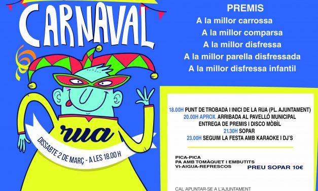 Subvenció per les carrosses de carnaval