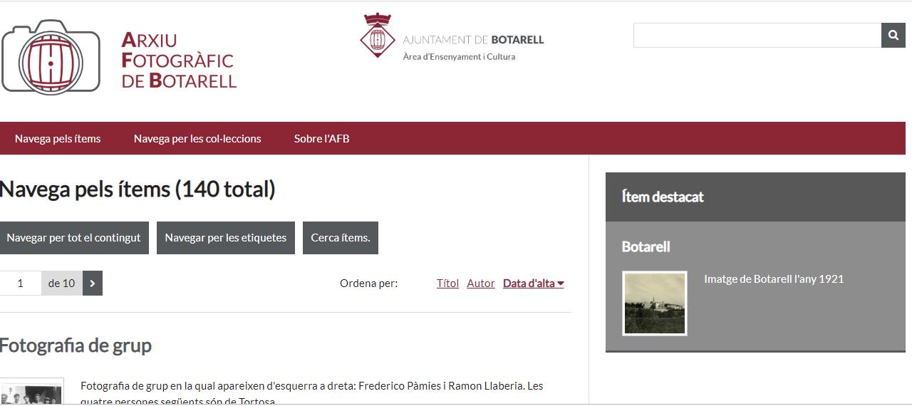 Presentació de la nova web i de l'Arxiu Fotogràfic